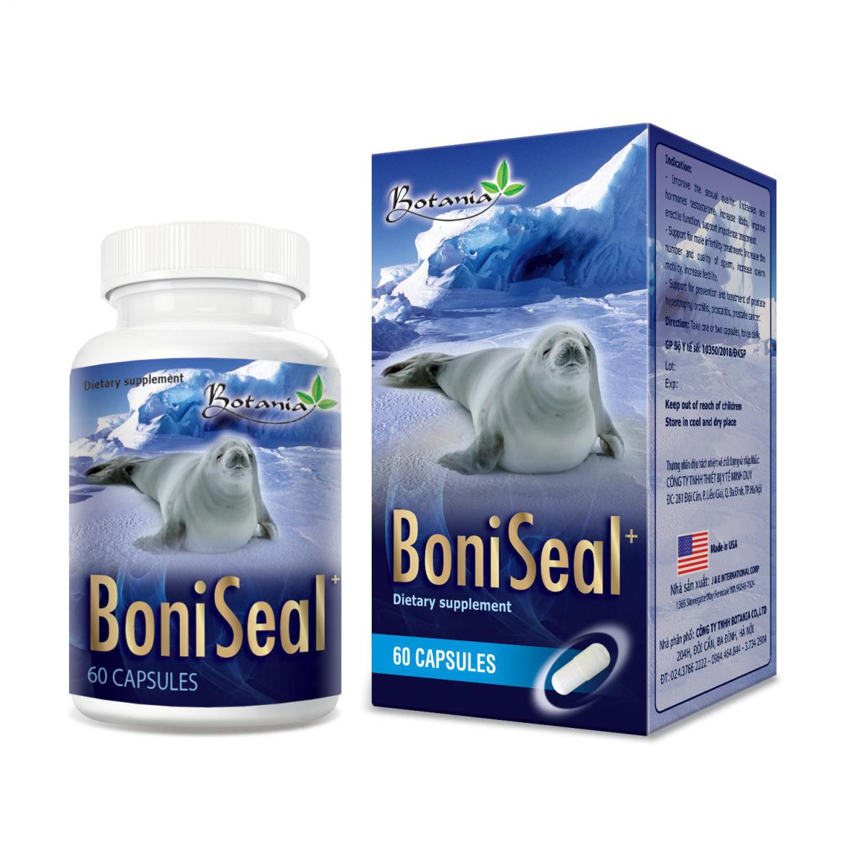 BoniSeal  hỗ trợ nam giới sinh lý yếu, di tinh, liệt dương, giảm ham muốn tình dục.